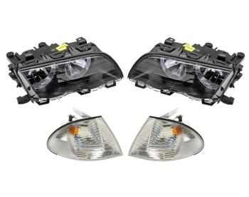 Headlight Set - Driver and Passenger Side (Halogen) (With Turn Signals) 1588907KIT Main Image