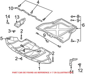 8D0805121B - Genuine Audi - Engine Splash Shield Retainer (6x20mm) - Fast  Shipping AvailableeEuroparts.com