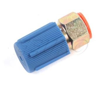 R134A Lowside Straight Adaptor (Blue Cap) (1/4in) R134SL Main Image
