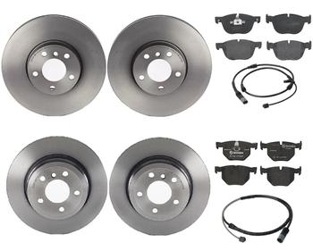 Disc Brake Pad and Rotor Kit - Front and Rear (332mm/320mm) (Low-Met) 1591933KIT Main Image