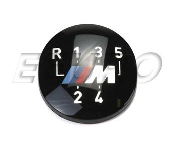 Manual Trans Shift Knob Emblem (M) (5-Speed) 25111221613 Main Image