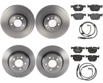Disc Brake Pad and Rotor Kit - Front and Rear (332mm/320mm) (Low-Met) 1591884KIT Main Image