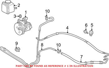 Power Steering Pump (Rebuilt) 003466640188 Main Image