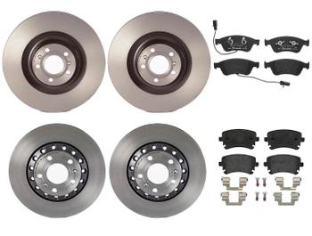 Disc Brake Pad and Rotor Kit - Front and Rear (360mm/310mm) (Low-Met) 1638394KIT Main Image