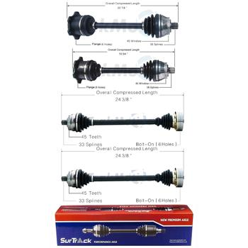 CV Axle Shaft Kit - Front and Rear 3991366KIT Main Image