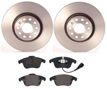 Disc Brake Pad and Rotor Kit - Front (312mm) (Low-Met) 1514431KIT Main Image