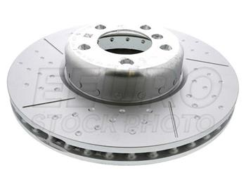 Disc Brake Rotor - Front (340mm) (Cross-Drilled) 34106797602 Main Image