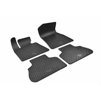 Floor Mat Set - Front and Rear (All Weather) (Rubber) (Black) 4156443KIT Main Image