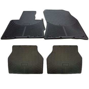 Floor Mat Set - Front and Rear (All Weather) (Rubber) (Black) 4122860KIT Main Image