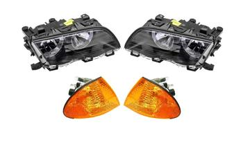 Headlight Set - Driver and Passenger Side (Halogen) (With Amber Turn Signals) 1588731KIT Main Image