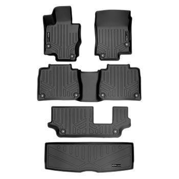 Floor Mat Set - Front Rear Third Row and Cargo Area (All-Weather) (Black) 3811594KIT Main Image