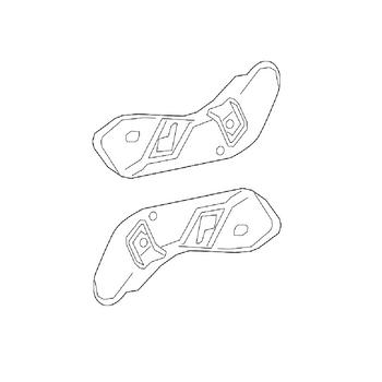 Seat Back Recliner Adjustment Mechanism Cover - Front Driver and Passenger Side (Outer) 4164410KIT Main Image