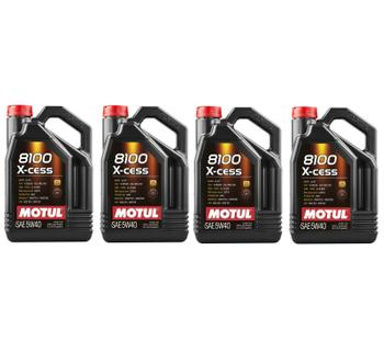Engine Oil (5W40) (Set of 4) (20 Liter) (X-Cess 8100) 3739393KIT Main Image