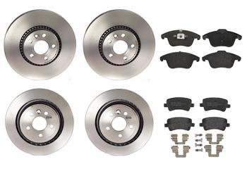 Disc Brake Pad and Rotor Kit - Front and Rear (316mm/302mm) (Low-Met) 1599208KIT Main Image