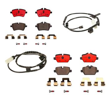 Brake Pad Set Kit - Front and Rear (Ceramic) 1555137KIT Main Image