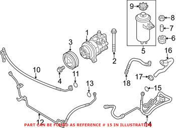 Power Steering Pressure Hose Sealing Ring (A16x20) 07119906463 Main Image