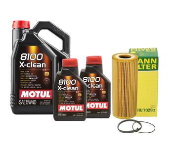 Engine Oil Change Kit (5W-40) (7 Liter) (X-CLEAN 8100) 3090044KIT Main Image