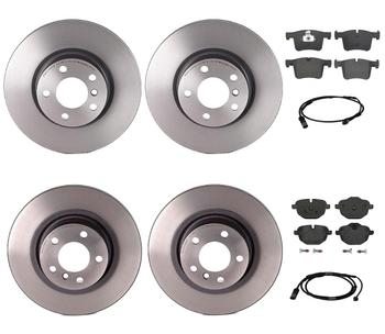 Disc Brake Pad and Rotor Kit - Front and Rear (328mm/330mm) (Low-Met) 2853607KIT Main Image