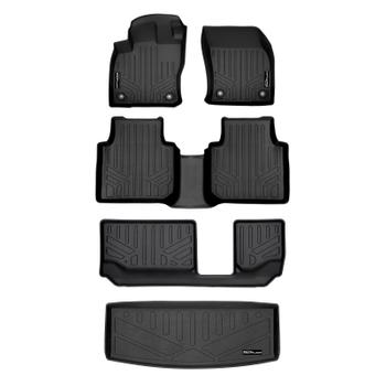 Floor Mat Set - Front Rear Third Row and Cargo Area (All-Weather) (Black) 3811172KIT Main Image