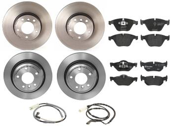 Disc Brake Pad and Rotor Kit - Front and Rear (312mm/300mm) (Low-Met) 1591280KIT Main Image