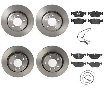 Disc Brake Pad and Rotor Kit - Front and Rear (300mm/294mm) (Low-Met) 1626138KIT Main Image