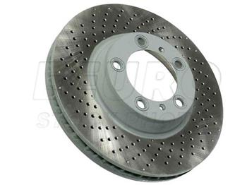 Disc Brake Rotor - Front Driver Side (330mm) (Cross-Drilled) 460156020 Main Image