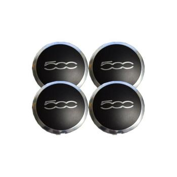 Wheel Cap Set - Front and Rear (Black with Chrome Trim) 3333118KIT Main Image