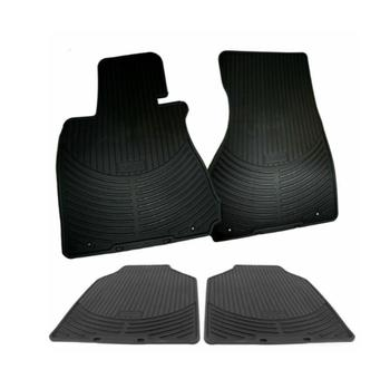 Floor Mat Set - Front and Rear (All Weather) (Rubber) (Black) 4122862KIT Main Image
