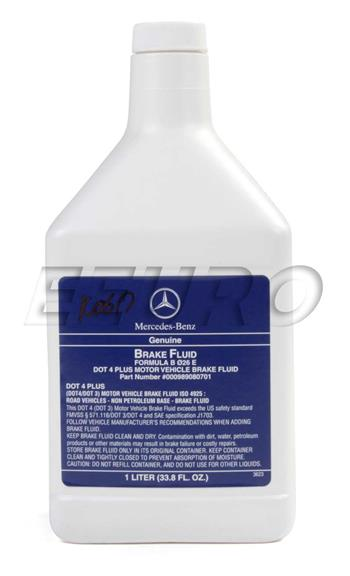 Brake Fluid (DOT 4 PLUS) (1 Liter) 000989080701 Main Image