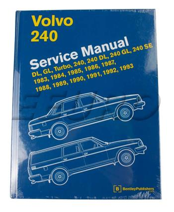 volvo repair manual volvo 240 bentley l293 fast shipping available rh eeuroparts com Volvo 760 GLE 83 Volvo 240 GLE