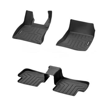Floor Mat Set - Front and Rear (All Weather) (Rubber) (Black) 4131911KIT Main Image