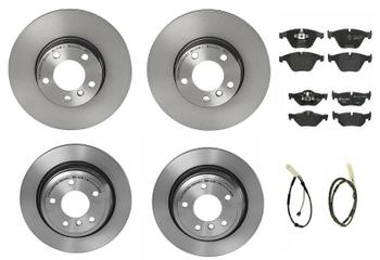 Disc Brake Pad and Rotor Kit - Front and Rear (312mm/300mm) (Low-Met) 1632870KIT Main Image