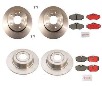 Disc Brake Pad and Rotor Kit - Front and Rear (297mm/304mm) (Ceramic) 1630366KIT Main Image