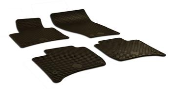 Floor Mat Set - Front and Rear (All-Weather) (Black) 218564 Main Image