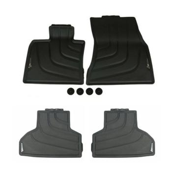 Floor Mat Set - Front and Rear (All Weather) (Rubber) (Black) 4131931KIT Main Image