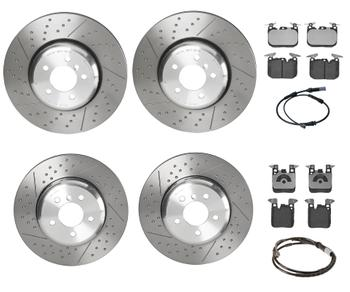 Disc Brake Pad and Rotor Kit - Front and Rear (370mm/345mm) (Low-Met) 3086579KIT Main Image