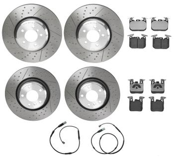 Disc Brake Pad and Rotor Kit - Front and Rear (370mm/345mm) (Low-Met) 2887106KIT Main Image