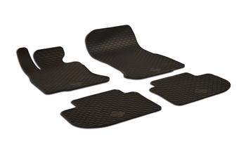 Floor Mat Set - Front and Rear (All-Weather) (Black) 220434FL Main Image