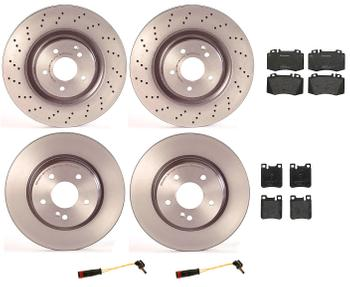 Disc Brake Pad and Rotor Kit - Front and Rear (345mm/300mm) (Low-Met) 1594179KIT Main Image