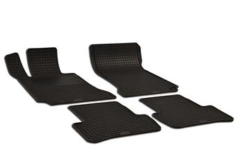 Floor Mat Set (4 Pieces) (All-Weather - Black - Rubber) - Front and Rear 212994 Main Image