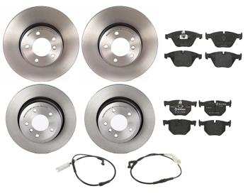 Disc Brake Pad and Rotor Kit - Front and Rear (324mm/320mm) (Low-Met) 1598708KIT Main Image