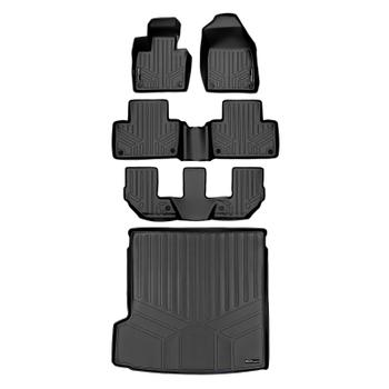 Floor Mat Set - Front Rear Third Row and Cargo Area (All-Weather) (Black) 3811007KIT Main Image