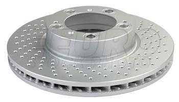 Disc Brake Rotor - Front Passenger Side (318mm) (Cross-Drilled) 99635140601 Main Image