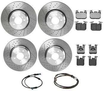 Disc Brake Pad and Rotor Kit - Front and Rear (370mm/345mm) (Low-Met) 3055307KIT Main Image