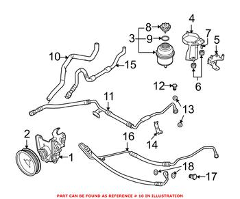 Power Steering Hose 32416761486 Main Image