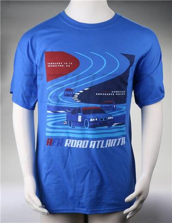 AER Official Road Atlanta Race T-Shirt (L) (Blue) (2017) AERT00007 Main Image