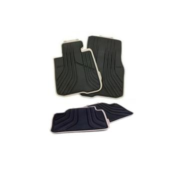 Floor Mat Set - Front and Rear (All Weather) (Rubber) (Black-Beige) 4155600KIT Main Image
