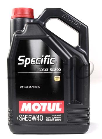 MOTUL Specific Engine Oil 5W40 5 Liter 101575 Main Image
