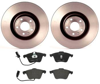 Disc Brake Pad and Rotor Kit - Front (345mm) (Low-Met) 2858345KIT Main Image