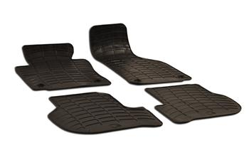Floor Mat Set - Front and Rear (All-Weather) (Black) 212804 Main Image